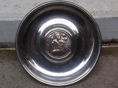 Antique Mappin & Webb's Silver Plate St Christopher C.m. Wentworth Dish Ashtray