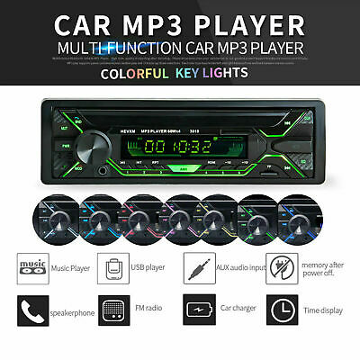 Autoradio Bluetooth 1Din Fm Stereo Lettore Mp3 Player Usb Sd Aux Radio 4X60W It
