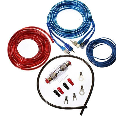 be1500w car audio subwoofers amplifier amp wiring fuse holder wire cable  kit rf