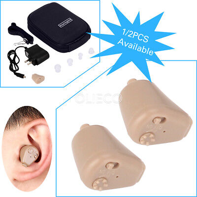 Rechargeable Digital Mini In Ear Hearing Aid Adjustable Tone Amplifier K-188