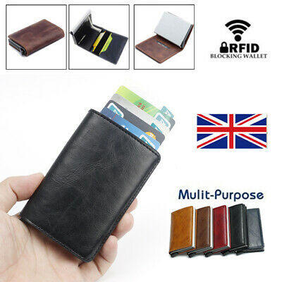Uk Rfid Blocking Wallet Anti-Theft Secure Faux Leather Bank Card Holder Funny