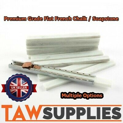 Engineers Flat French Chalk Stick Soap Stone Welding Marking Metal + Holders ...