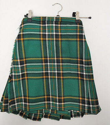 "Ex Hire Kids 20"" waist 13"" Drop Heritage Of Ireland  Wool KILT B CONDITION"