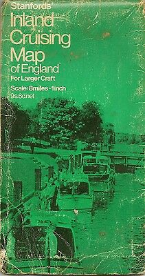 Stanfords Inland Cruising Map of England - 1968