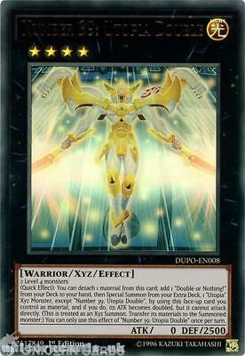 DUPO-EN008 Number 39: Utopia Double Ultra Rare 1st Edition Mint YuGiOh Card