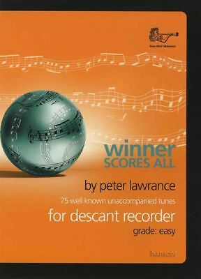 Winner Scores All for Descant Recorder Sheet Music Book 75 Well-Known Tunes
