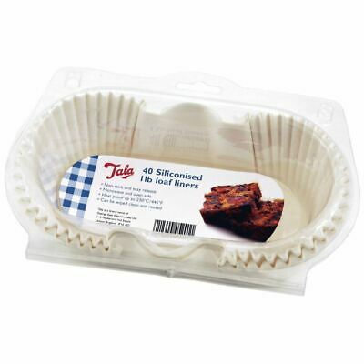 Tala 1Lb Siliconised Loaf Liners Pack 40 (Pack of 4)