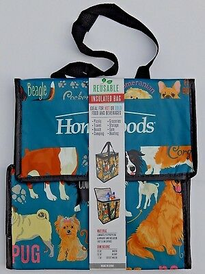 Reusable Insulated Bag Hot Or Cold Food Beverages Eco Friendly Homegoods Dogs