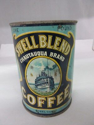 Vintage Advertising Swell Brand Coffee Tin Can Graphics Collectible  680-L