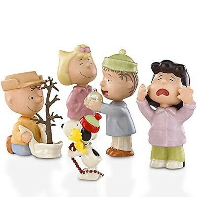 Lenox Peanuts That's What Christmas is All About Figurine 5 Piece Set 818358 New