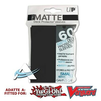60 Bustine Protettive NEW Ultra PRO MATTE Small Size Sleeves • Nero Black