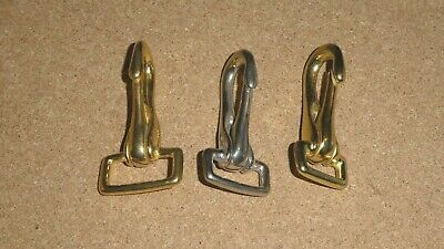 Bridle Snap Hook/Clip, Brass or Nickel Plated, 16mm, 20mm or 25mm