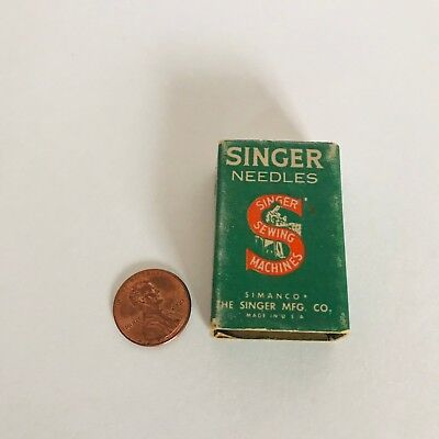 Vintage Simanco Singer Sewing Machine Needles original box of 68
