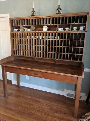 "Antique 1929 Post Office Sorter Table from CT 76"" tall 71"" wide - Local Pickup"