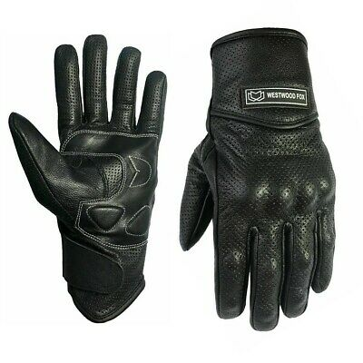 WFX Leather Best Knuckle protection All Weather Motorcycle Motorbike Gloves