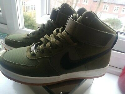 348e15910b Nike Air Force 1 High Utility Olive Canvas Cream Sequoia Girls Women's  Trainers