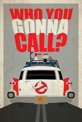 Vintage Ghostbusters Who You Gonna Call?  ECTO-1 Poster FRIDGE Magnet 2.5 x 3.5