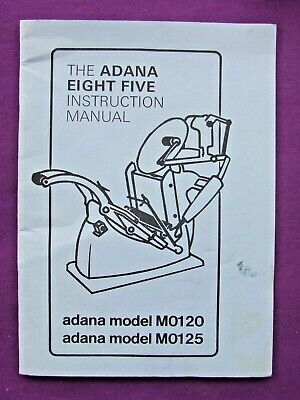Letterpress Printing The ADANA EIGHT FIVE INSTRUCTION MANUAL late Litho Edition