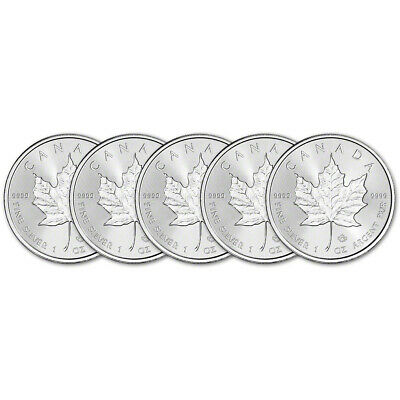 2019 Canada Silver Maple Leaf Incuse - 1 oz - $5 - BU - Five 5 Coins