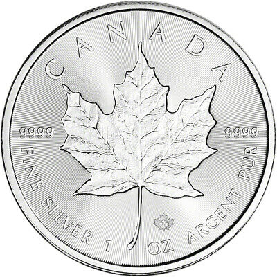 2019 Canada Silver Maple Leaf Incuse - 1 oz - $5 - BU