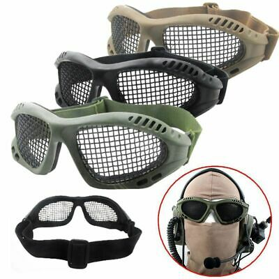 Tactical Hunting Paintball Goggles Eyewear Steel Wire Mesh Airsoft Net Glasses