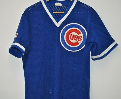 39ed2507076 Vintage 80s-90s Majestic CHICAGO CUBS Baseball Jersey mesh Mens XL Pro  patch MLB