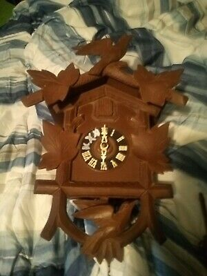 German Black Forest Cuckoo Clock For Parts Or Repair