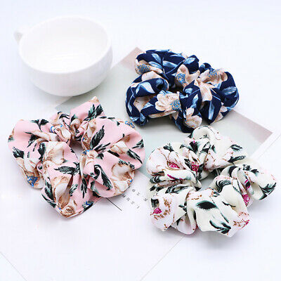 Sweet Flower Hair Scrunchie Girls Ponytail Holder Soft Elastic Hair Ties Rope C8