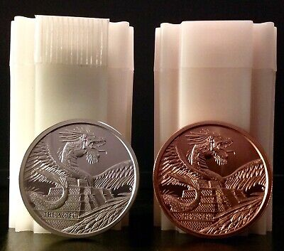 World Of Dragons Aztec 1oz .999 Silver & 1oz .999 Copper 1st of 6 In the Series