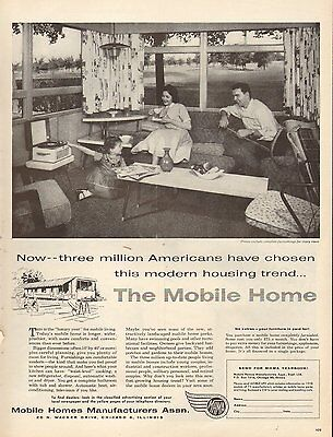1965 Print Ad New Moon Mobile Home Family Homes Redman