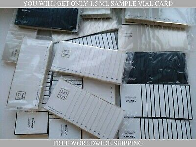 Chanel Sample Vials 1,5 Ml. Assorted. Your Choice. 100% Authentic & Original