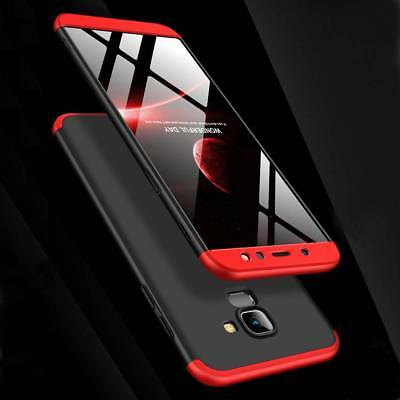 For Samsung Galaxy A6 Plus 2018 360° Full Protective Hybrid Case+Tempered Glass