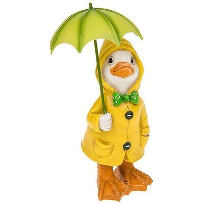 Puddle Duck With Umbrella  Animal Ornament Figurine Collectable  Gift 277152