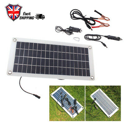 Outdoor 20W Solar Panel Trickle Battery Charger Power Supply 12V Car Boat Yacht