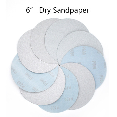 6 Inch(150mm) Hook&Loop White Dry Sanding Discs Power Tools Polishing Sandpaper