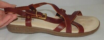 af217b12c1 G H Bass Sunjuns Margie Leather Strappy Slingback Sandals Shoes Women's  Size 7.5