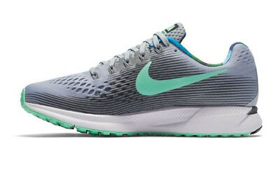 9f6c06517f82 Womens Nike Pegasus 34 Solstice Running Shoes   Size 5   Wolf Grey-Green  Glow