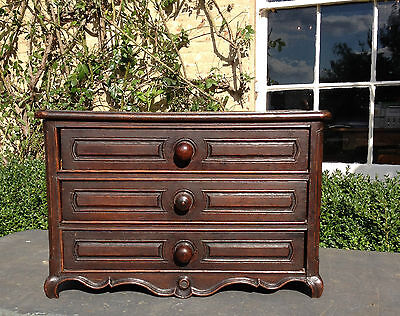19th Century French Fruitwood Miniature Chest of Drawers