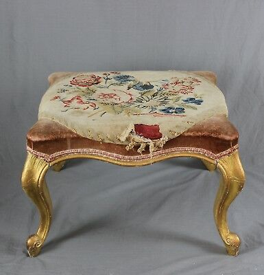 French Giltwood Foot Stool 19th Century