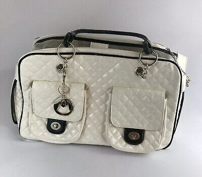 My Gift Collection Quilted Designer Inspired Faux Patent Leather Dog/Cat Carrier