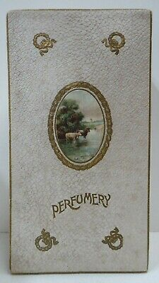 Original Antique Perfumery Box Package Silk Satin Lined Perfume Scent Gift Pack