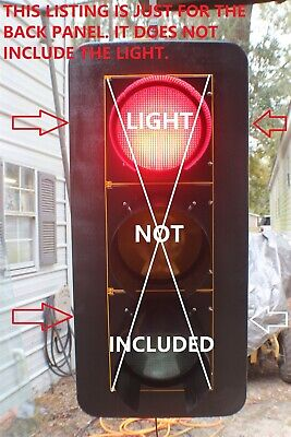 Traffic Signal Back Panel Makes Lights Stand Out And Brighter Light Not Included
