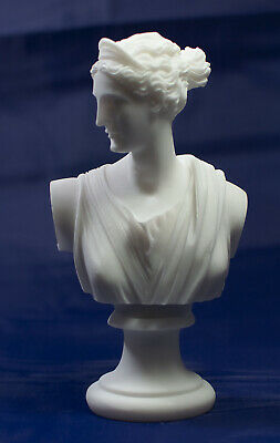 Artemis Diana sculpture bust Greek Goddess of the Hunt, Forests and Hills,