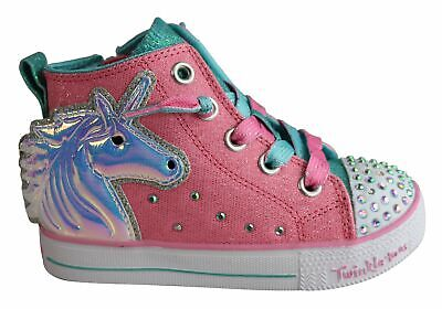 New Skechers Infant Girls Twinkle Toes Twinkle Lite Unicorn Mini Shoes