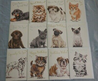 Happy Birthday Greetings Card Cats Dogs Kittens Puppies BUY 2 GET 1 FREE!!!!!!!!