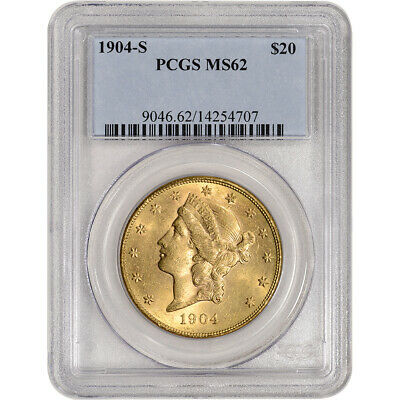 1904-S US Gold $20 Liberty Head Double Eagle - PCGS MS62