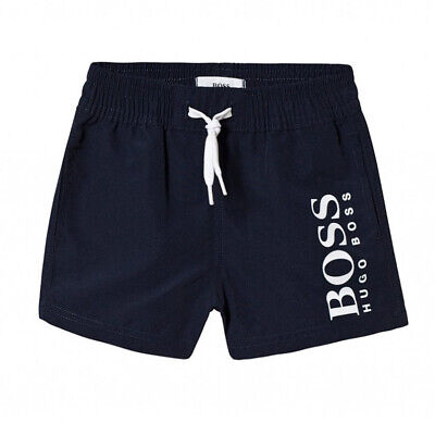 Hugo Boss Kids Boys Baby Navy Classic Logo Swim Shorts - J04325/849