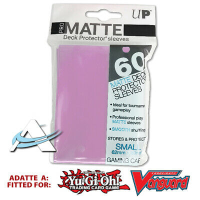 60 Bustine Protettive NEW Ultra PRO MATTE Small Size Sleeves • Pink Rosa