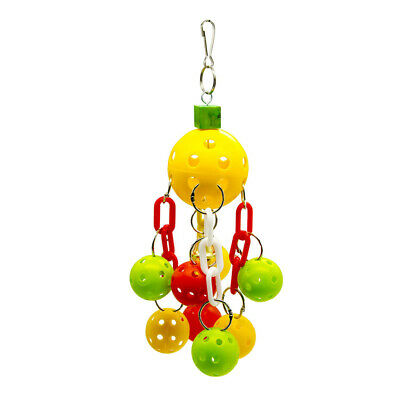 Pet Bird Toys Parrot Cage Toy Cages Parrots Aviary Hanging Ball Block Toys