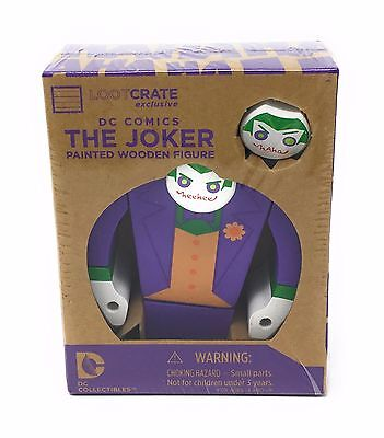 THE JOKER PAINTED WOODEN FIGURE - DC Comics Collectibles - Lootcrate Exclusive!